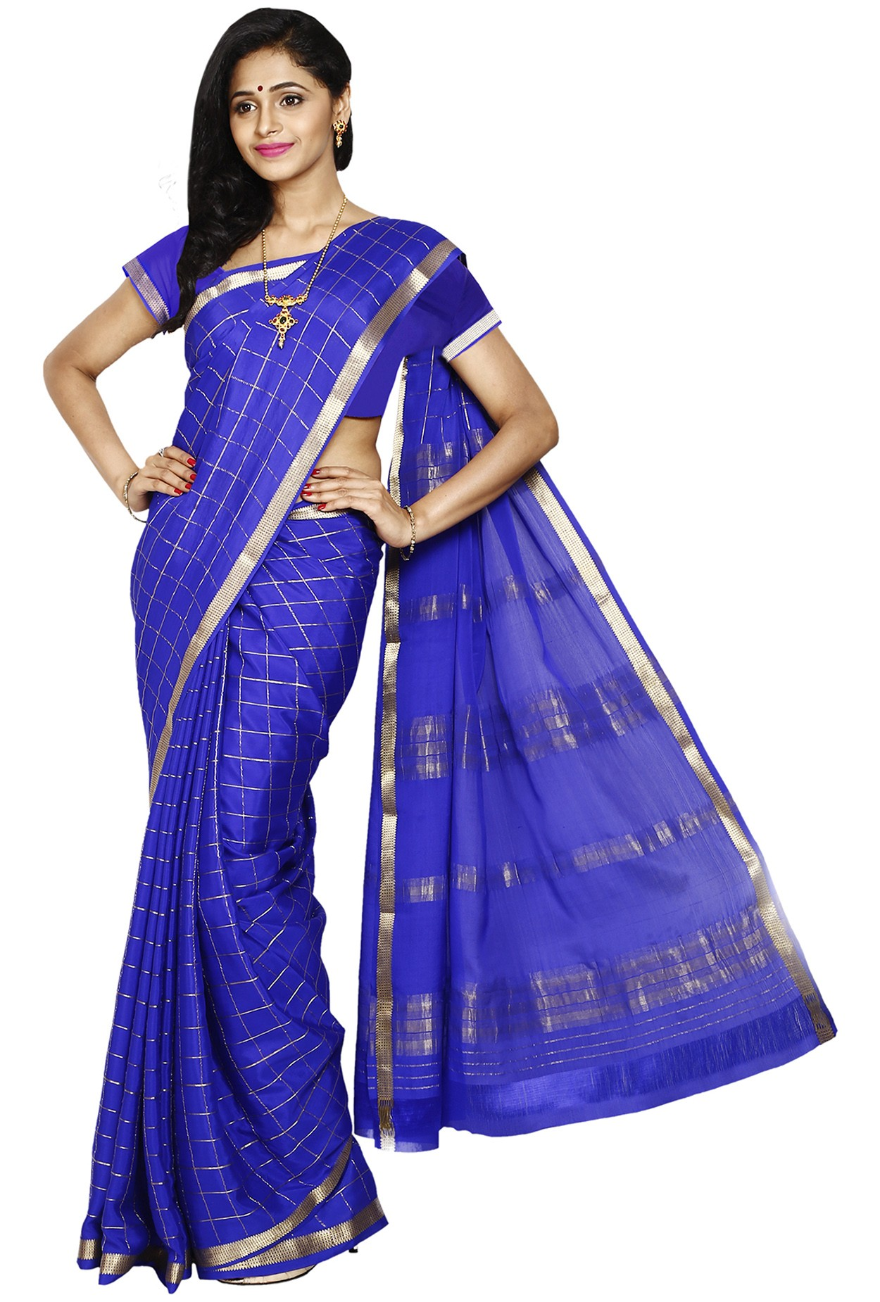 d3bc8ce76c 100% Pure Crepe Mysore Traditional Silk Saree KC3109_ROYALBLUE - Mysore  Silk Sarees - Sarees