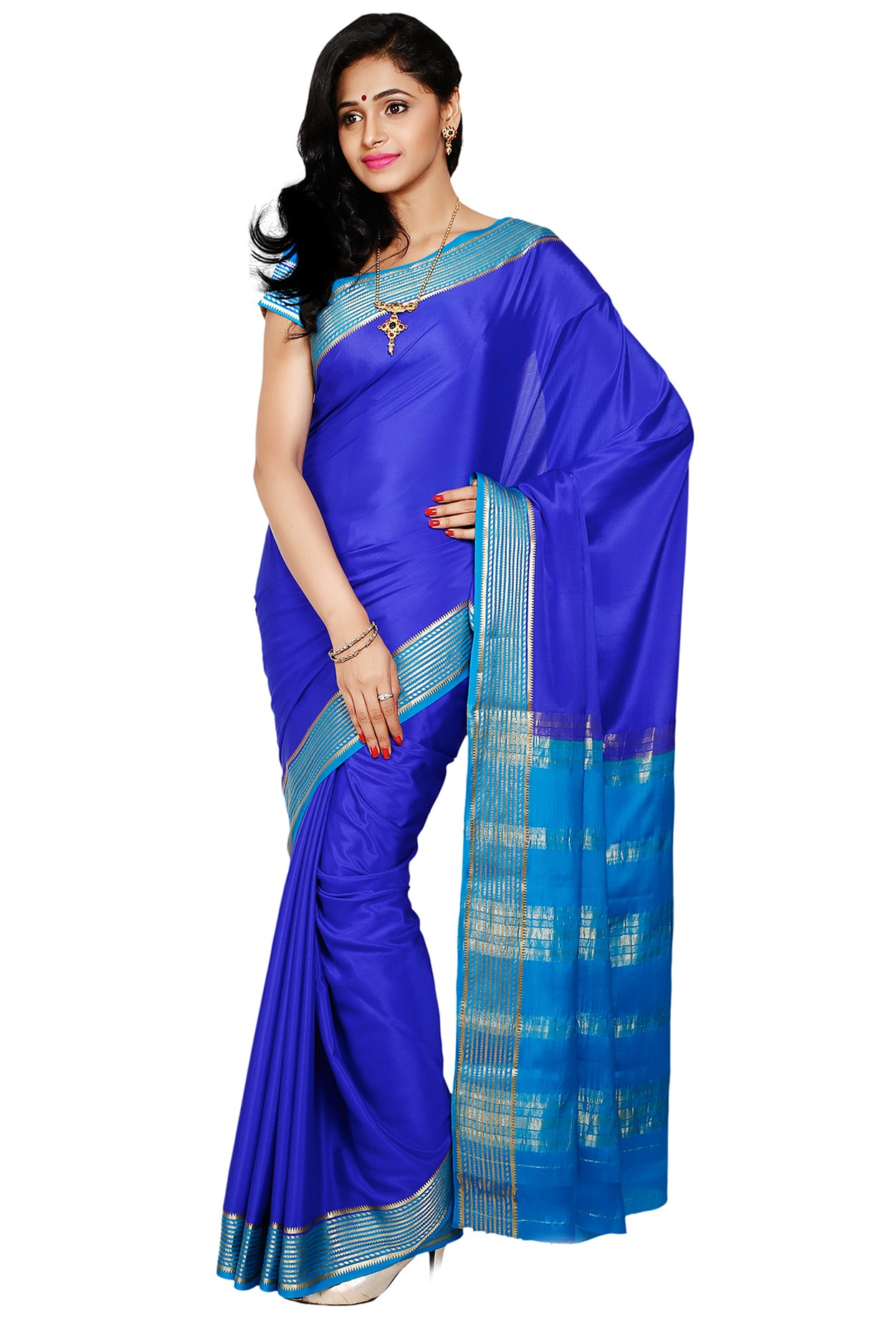 0b03fb2341 100% Pure Crepe Mysore Traditional Silk Saree KC07010_ROYALBLUE_ANANDA - Mysore  Silk Sarees - Sarees