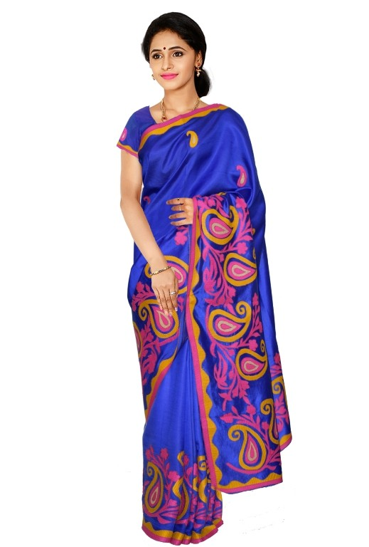 Kaushika 100% Pure Raw Silk Saree  KD0401