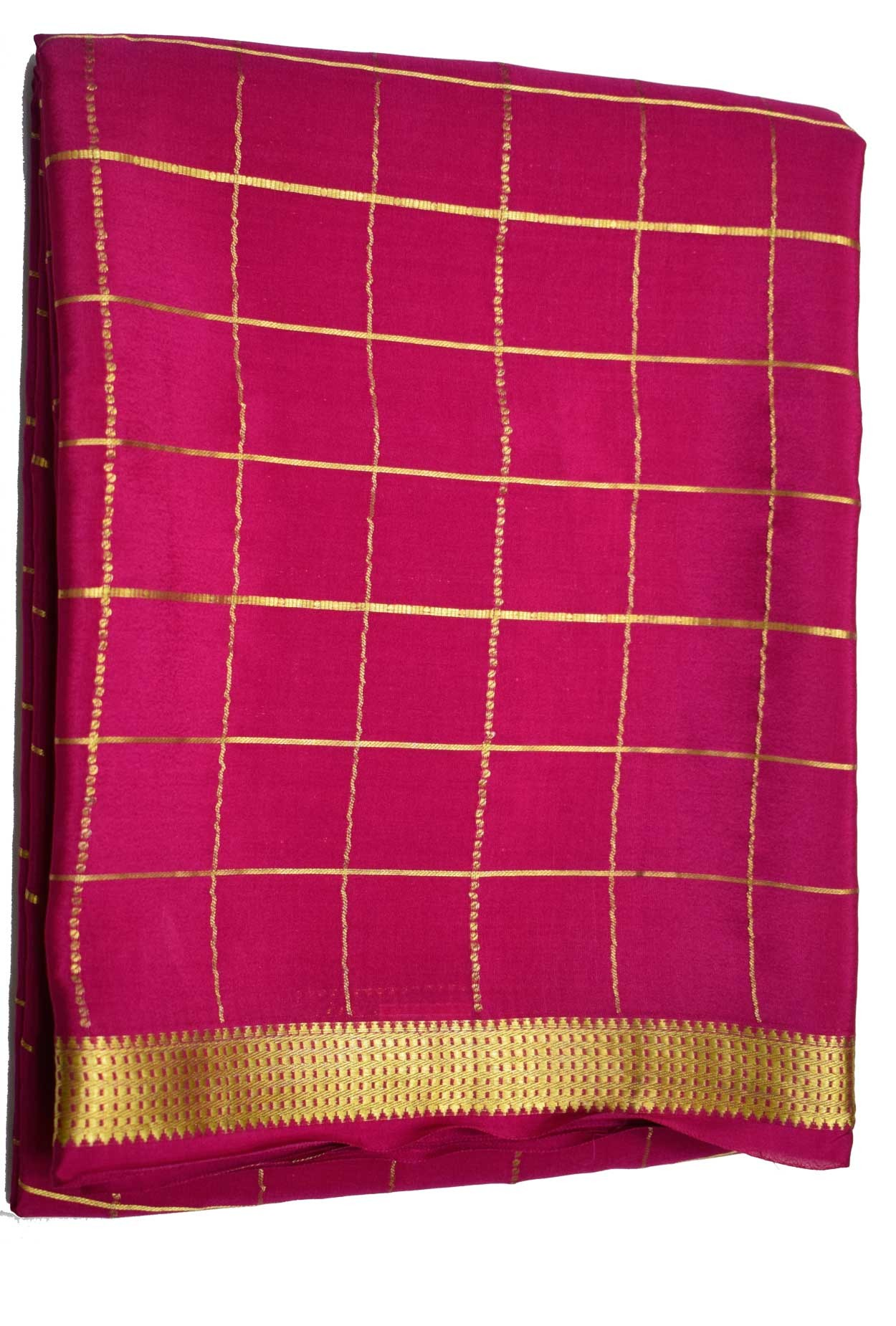100% Pure Crape Mysore Traditional Silk Saree SC-29--RANI